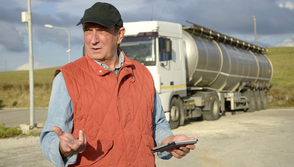 """Truck driver Don """"Dredge"""" Smith thinks anyone is an idiot for thinking St. George doesn't exist."""