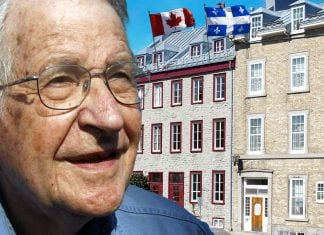 Noam Chomsky is considering a move to Canada or Quebec.