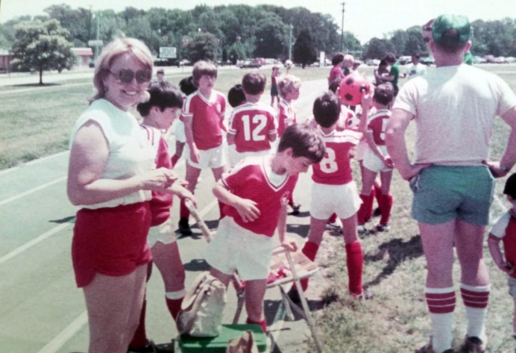 Hillary Clinton seen here as a Soccer Mom sometime in the late 1970s/early 1980s.