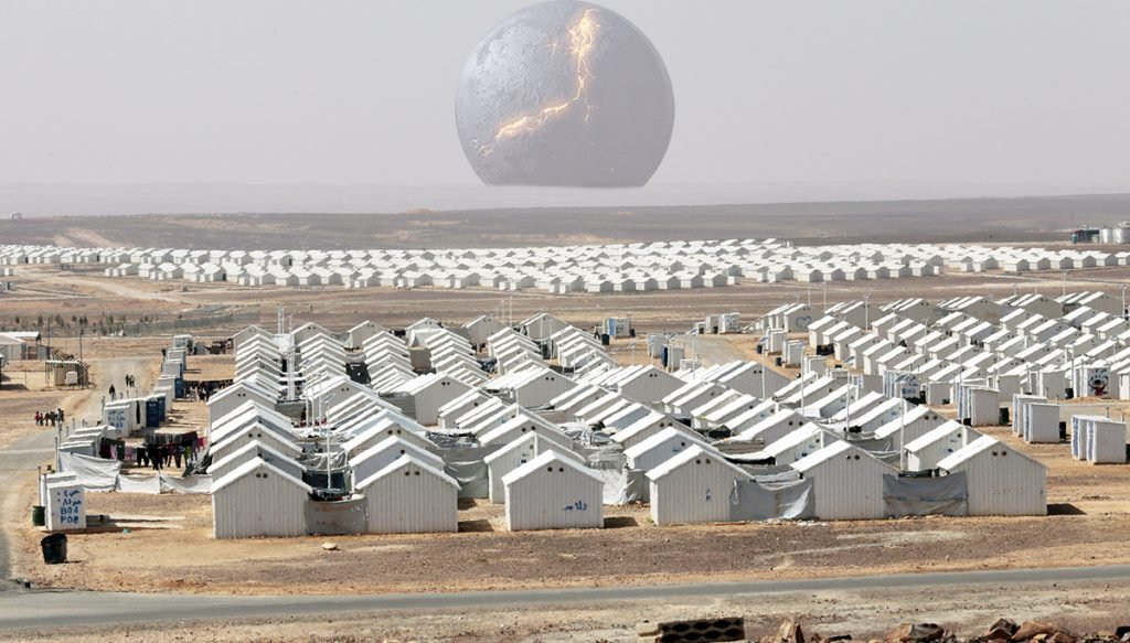 Nibiru arrives over FEMA Camp somewhere in Nevada.