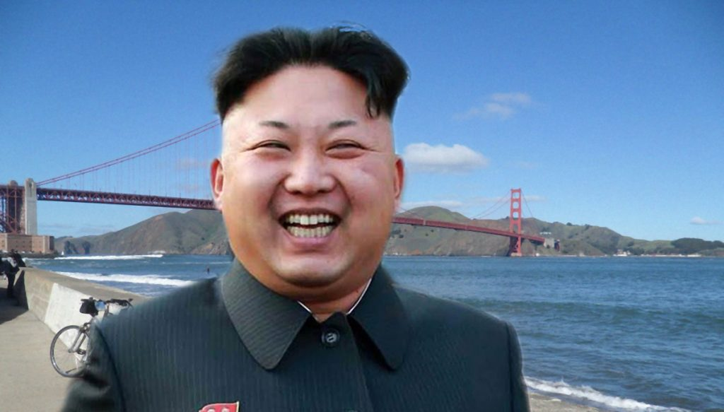 North Korean supreme leader Kim Jong-un in a mocked up photo provided by the DPRK News Service.