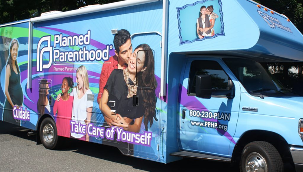 "Planned Parenthood of California is rolling out ""Abortion Vans"" to largely poor neighborhoods."