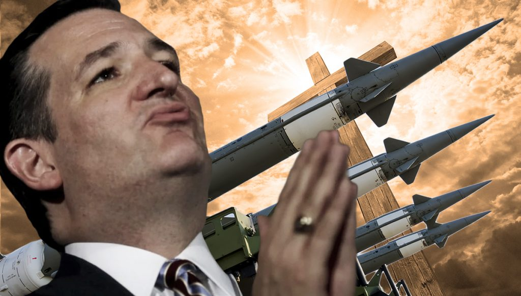 Presidential Candidate Senator Ted Cruz has called for a Christian Jihad.
