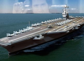 The USS Gerald R. Ford seen here in a Defense Department file photo.