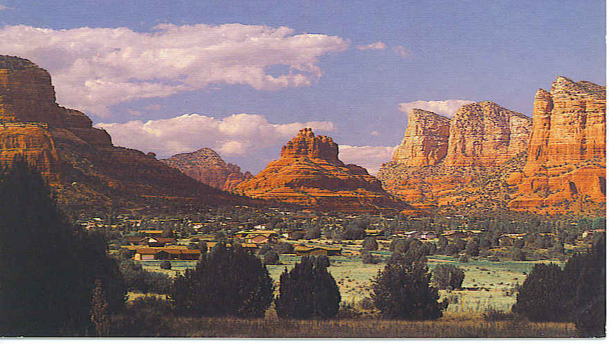 Here is a supposed postcard of Sedona, Arizona from 1900. However it is actually doctored.