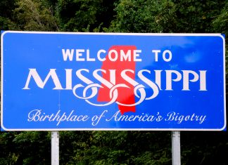 Mississippi has allocated funds to change state welcome sign.