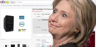 Hillary Clinton's controversial email server was found on eBay for sale.