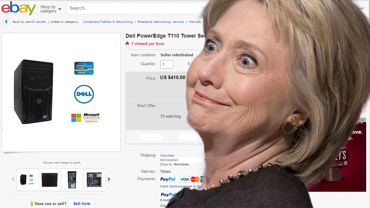 Shocker: Clinton Email Server Found on eBay