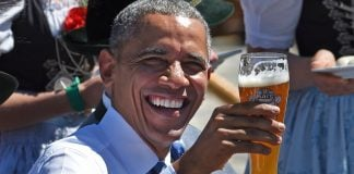 President Obama told a town hall meeting in Flint, MI that they can drink beer instead of water.