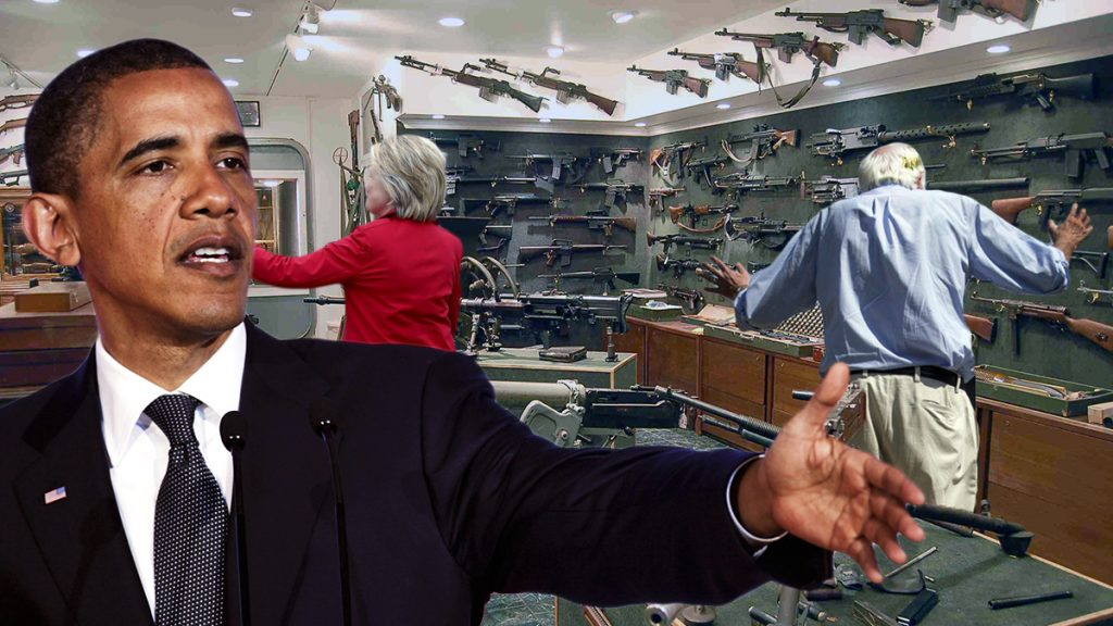 President Obama Gives Senator Sanders & Hillary Clinton Tour of Gun Confiscation Warehouse