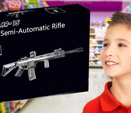 Walmart announced today that it was removing all AR-15 Semi-Automatic Lego rifle kits from its shelves.