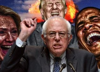 Bernie Sanders is claiming that there is a conspiracy to drive the country into disaster.