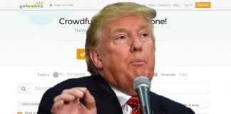 Donald Trump has started a GoFundMe.com account.