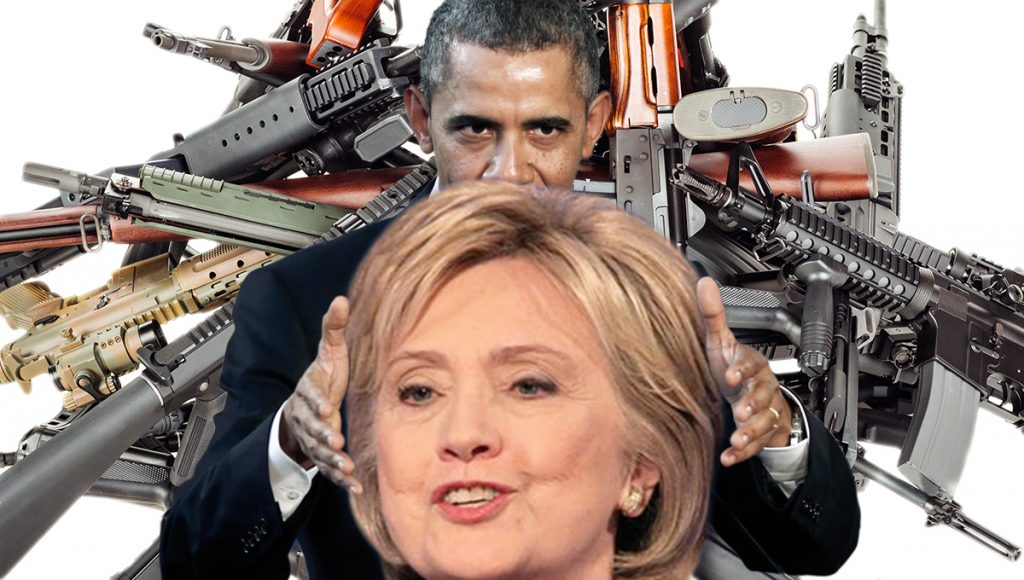 Hillary Clinton promises to confiscate 3 times as many guns as Obama has.