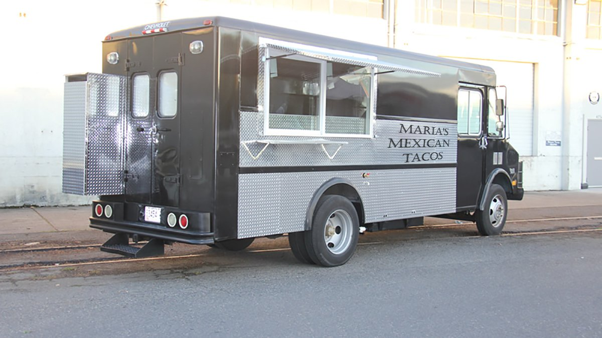 The mysterious Air Force truck was really Maria's Mexican Tacos.