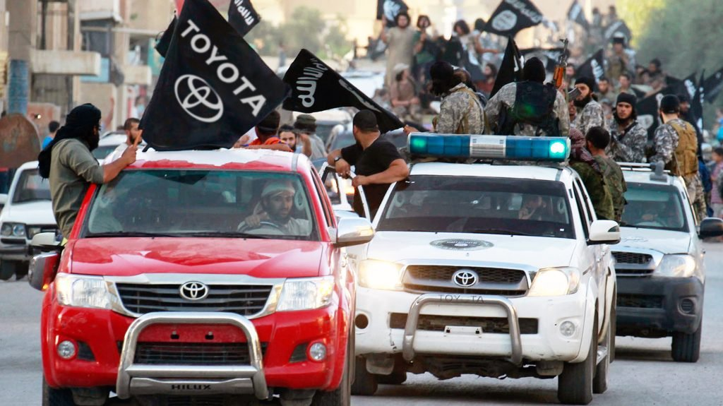 The Toyota Motor Company signed an exclusive 10-year deal with the terrorist Group ISIS.