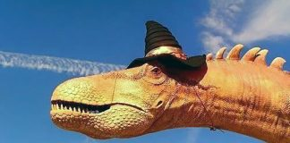 """Artist's rendition of """"Juban,"""" Skyy Wolford's Chemtrail-fighting Wiccan Sky Dragon"""