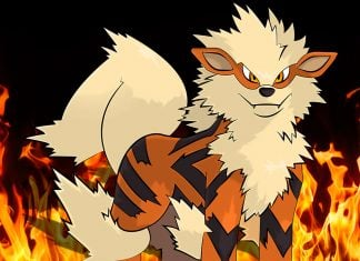 Simmons was blasted with fire from Arcanine's flamethrower ability.