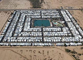 One of many FEMA camps being setup with the aid of the United Nations.