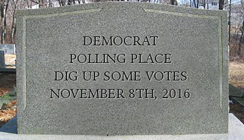 """The Democrats are making an effort to limit the """"dead vote"""" in 2016."""