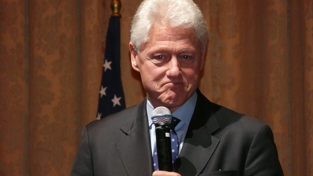 Bill Clinton pictured here hours before his apparent suicide.