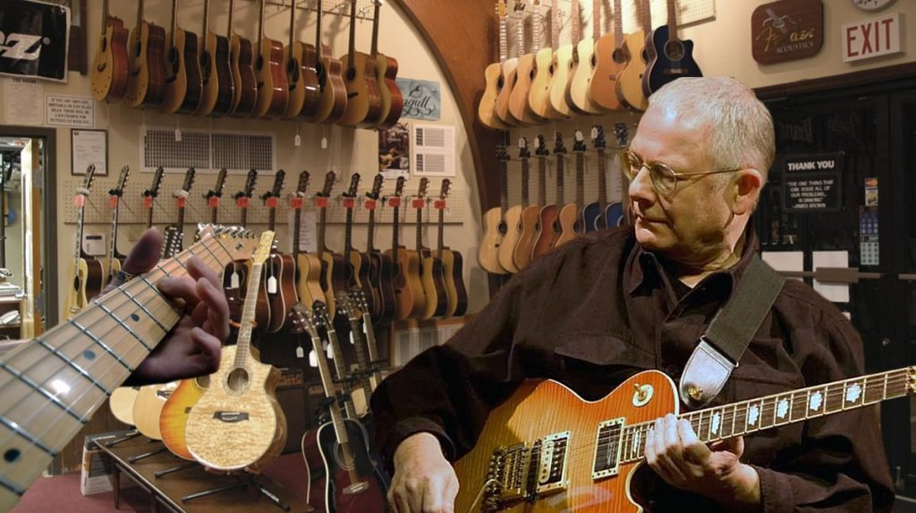 Legendary guitar player and King Crimson founder Robert Fripp is retiring to teach guitar at a Derry, New Hampshire music store.