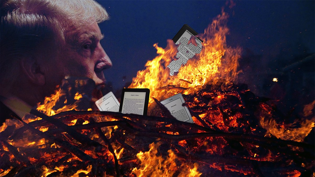 """Donald Trump plans on holding the first """"Kindle burning"""" in Detroit."""
