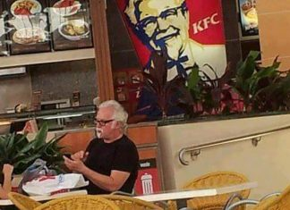 A younger, more hipster version of Colonel Sanders was spotted at the Grass Valley KFC enjoying a 3 piece meal. Source: