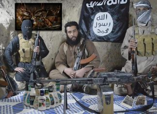 ISIS Terrorists seen here in their hidden cave located in a remote part of Nevada County.