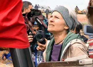 Moments later, Green Party Presidential candidate Jill Stein attacked Triumph the insult dog with a can of spray paint.