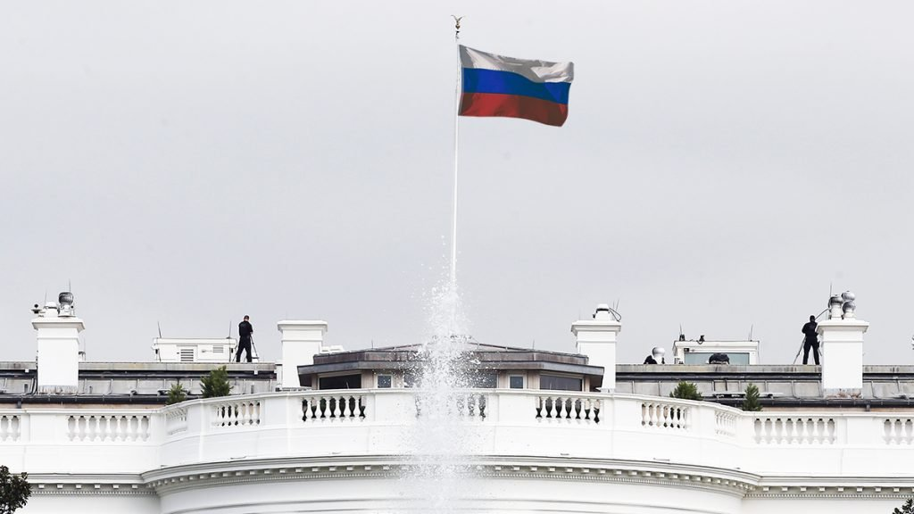 Presidential hopeful Donald Trump would be open to flying the Russian flag over the White House.