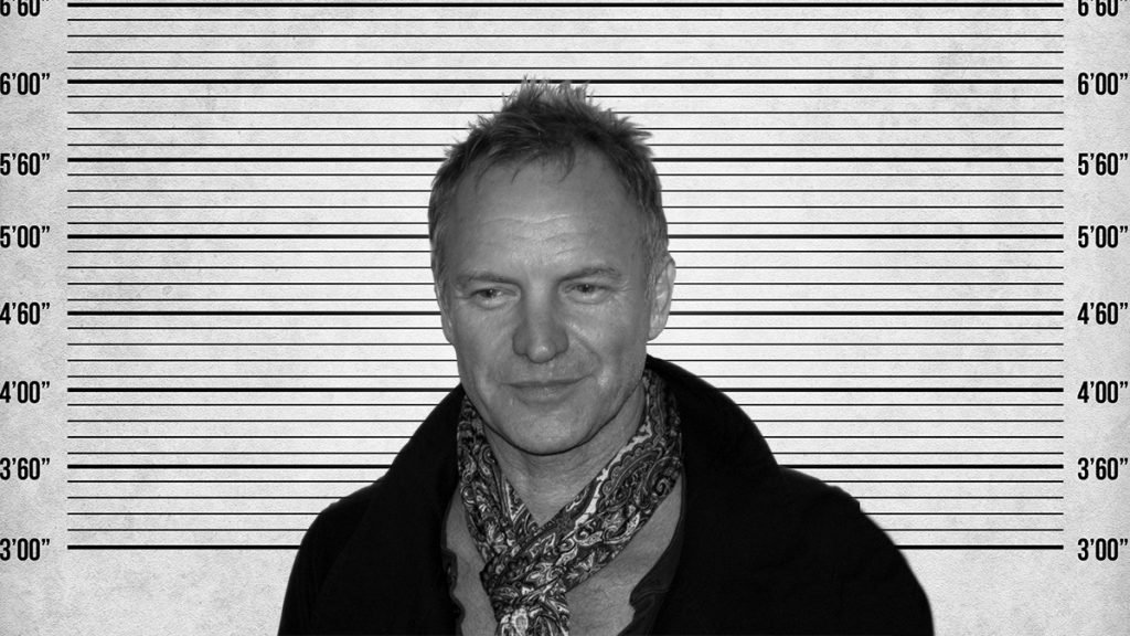 Legend pop artist Sting got stung in an Atlantic City, New Jersey.