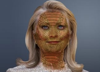 Hillary Clinton denies any involvement with a Reptilian Conspiracy