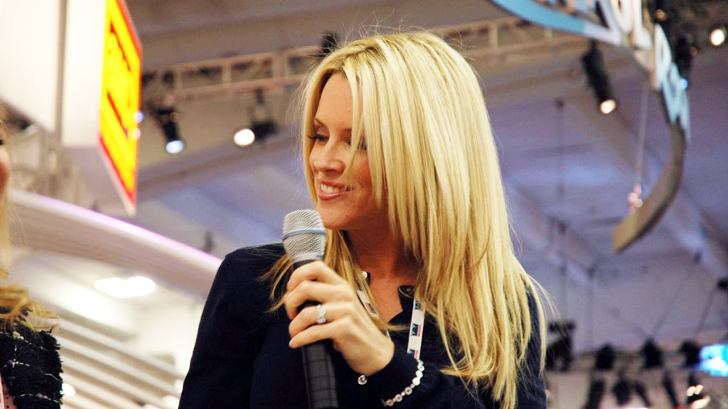 Jenny McCarthy seen here in a recent anti-vaccine event.