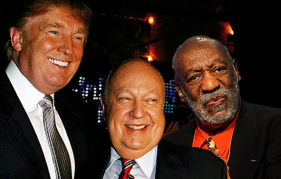 Sex offenders Roger Ailes and Bill Cosby plan on campaigning with Donald Trump to provide moral support.