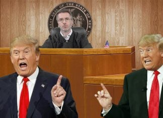 Donald Trump announced today that he plans on suing himself.