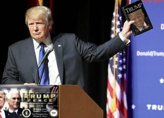 Donald Trump annoucing his new 2016 Campaign Biopic My Struggle.