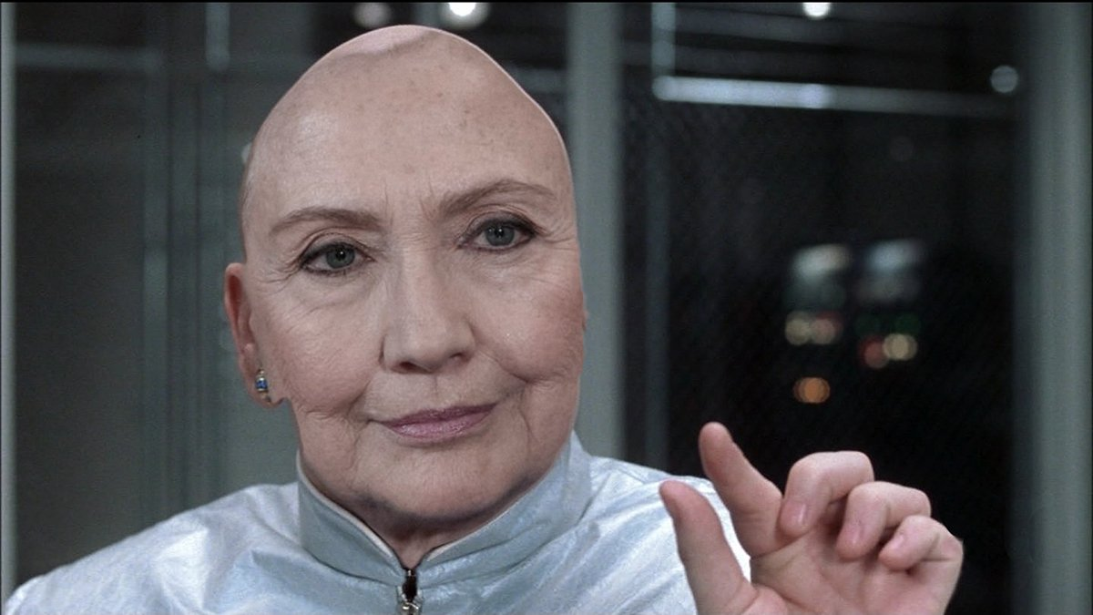 Dr. Evil contends that Ms. Clinton has been impersonating his style.