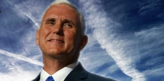 Vice President-elect mentioned Chemtrails several times today during an interview with Fox News.