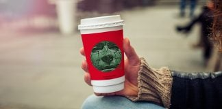 The controversial Starbucks Hellraiser holiday cup.
