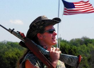 Donald Trump has announced via Twitter that rocker Ted Nugent has been nominated for the yet-formed Department of the NRA.