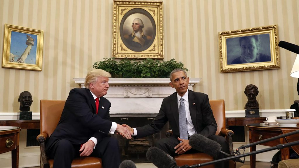 President Obama and President-elect Donald Trump seen here following their 90 minute private meeting.