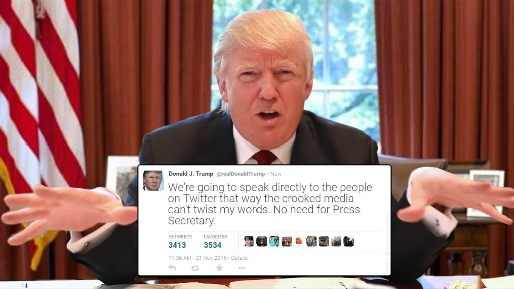 Donald Trump will use his Twitter account to speak directly to the people.