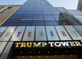 Trump tower's polling location raises some eyebrows.
