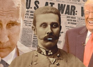 Archduke Franz Ferdinand attempted to allay and assuage the fears of the citizens of Earth,