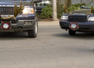 The Grass Valley Police Department is waging battling the war on Christmas by decking their patrol cars with antlers.