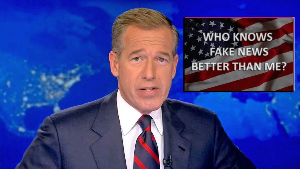 Brian Williams claims that he is an expert on Fake News because her created it.