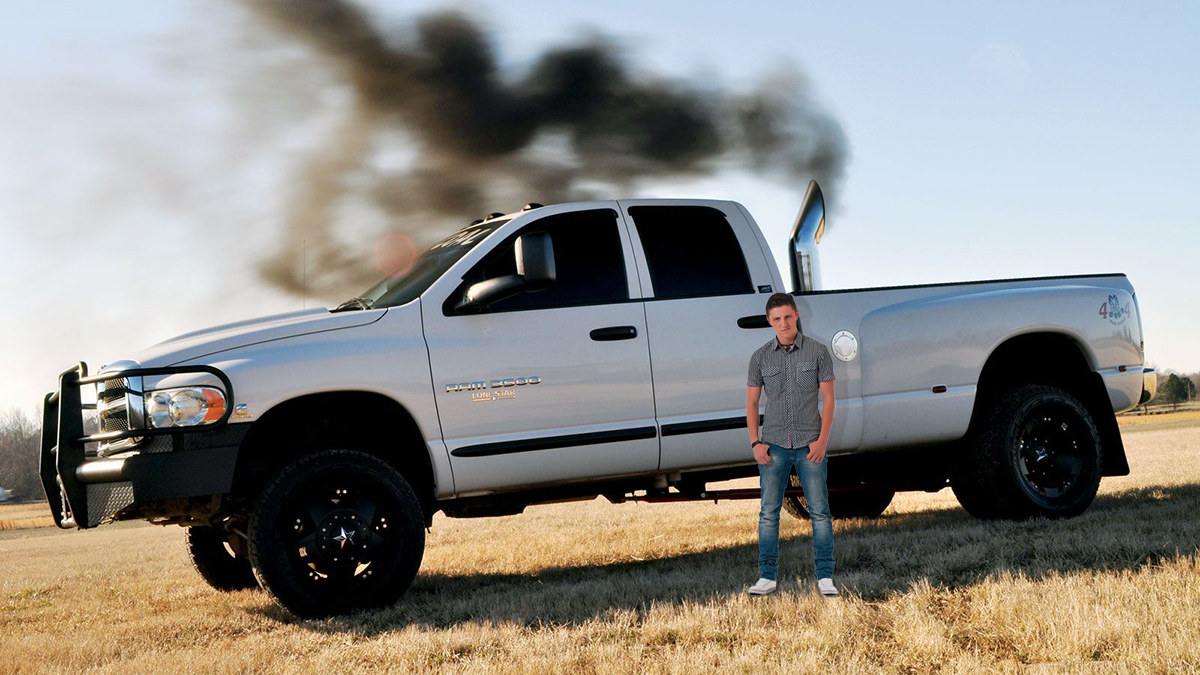 Local Man Wondering If You Noticed His Oversized Truck