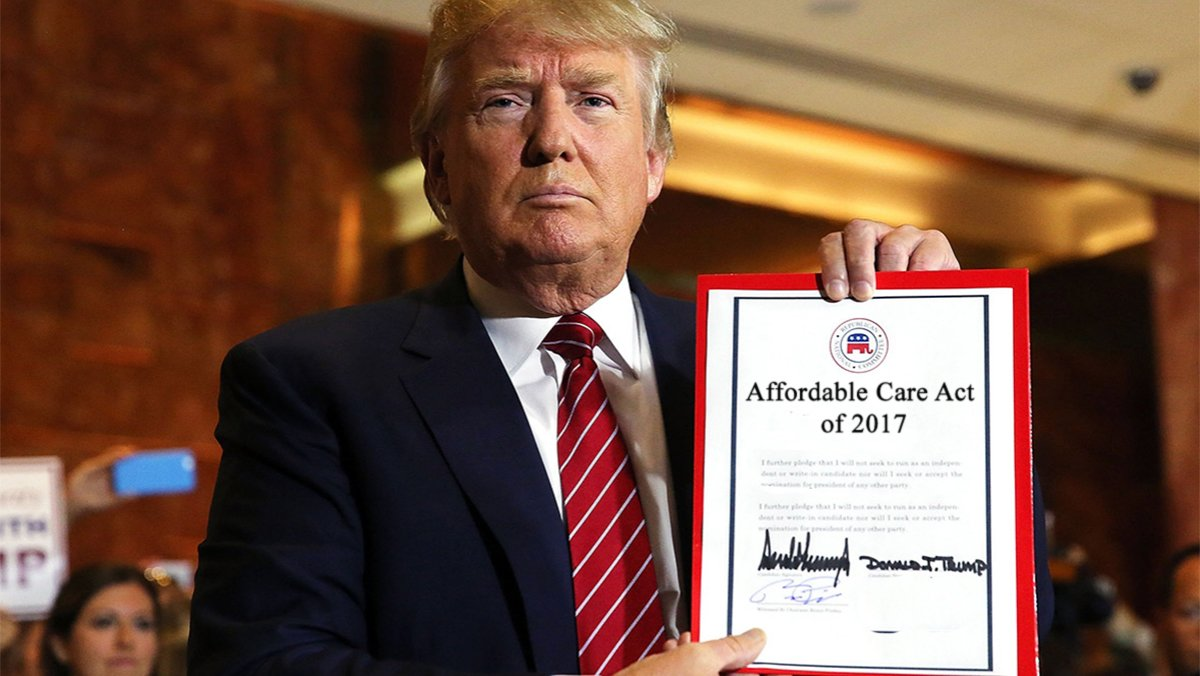 Today Donald Trump announced his replacement to Obamacare called the Affordable Care Act.