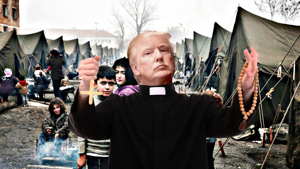 President Donald Trump is considering exorcism as a part of his extreme vetting of Muslims.
